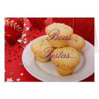 Feliz Ano Novo de Festas e das boas do Natal um Cartão Comemorativo