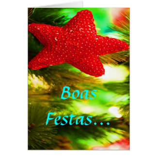 Feliz Ano Novo STAR II vermelho de Festas e das Cartão Comemorativo