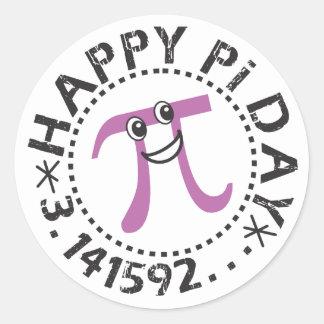 © feliz bonito do dia do Pi - etiquetas engraçadas