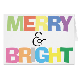 Feliz & brilhante coloridos - cartão dobrado Natal
