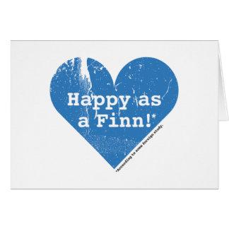 Feliz como um cartão de dobramento do Finn