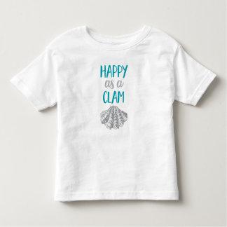 Feliz como uns moluscos camiseta infantil