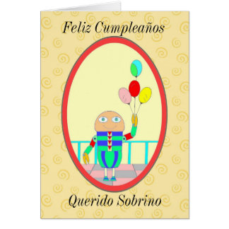 Feliz Cumpleaños Querido Sobrino II Cartão