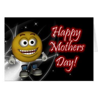 Feliz dia das mães com cartão do smiley