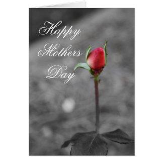Feliz dia das mães do Rosebud Cartão Comemorativo