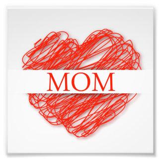 Feliz dia das mães impressão de foto