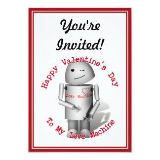 Feliz dia dos namorados a minha máquina do amor convite personalizados