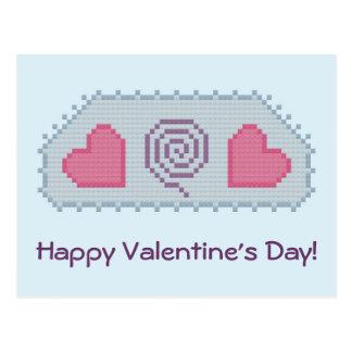 Feliz dia dos namorados! Cartão espiral dos coraçõ Cartao Postal