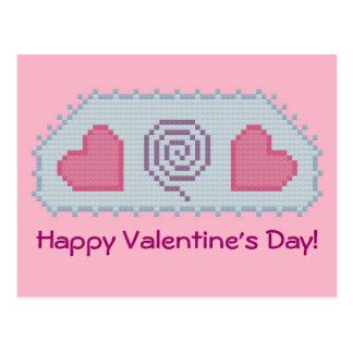 Feliz dia dos namorados! Cartão espiral dos coraçõ Cartão Postal