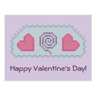 Feliz dia dos namorados! Cartão espiral dos coraçõ Cartões Postais