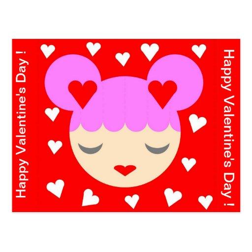 Feliz dia dos namorados! cartão postal
