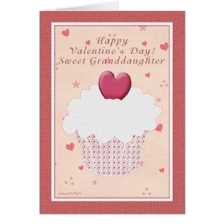 Feliz dia dos namorados da neta - cupcake cartão comemorativo