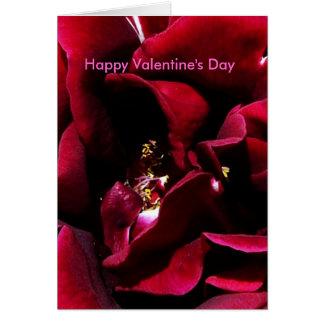 Feliz dia dos namorados da rosa vermelha cartão comemorativo