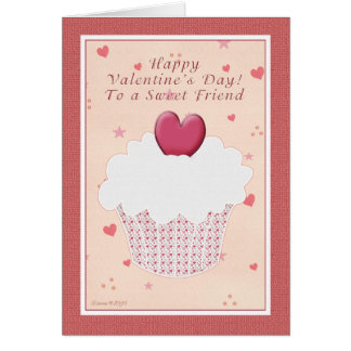 Feliz dia dos namorados do amigo - cupcake do cartão comemorativo