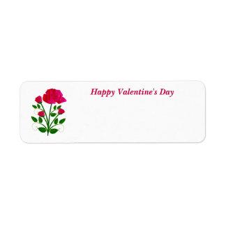 Feliz dia dos namorados etiqueta endereço de retorno