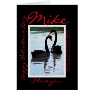 Feliz dia dos namorados Mike Cartão