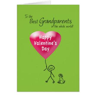 Feliz dia dos namorados para avós cartão comemorativo