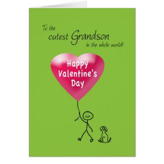 Feliz dia dos namorados para o neto cartão comemorativo