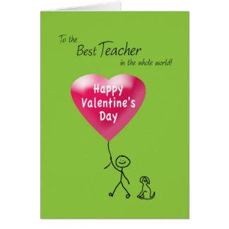 Feliz dia dos namorados para o professor cartão comemorativo