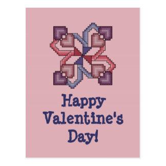 Feliz dia dos namorados! Ponto transversal Postcar Cartão Postal