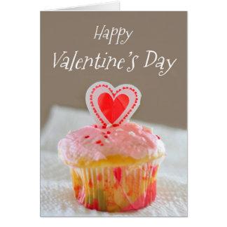 Feliz dia dos namorados, pouco cupcake cartão