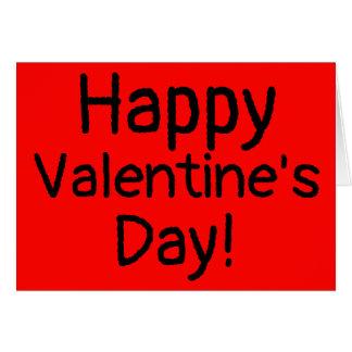 Feliz dia dos namorados todo o cartão vermelho