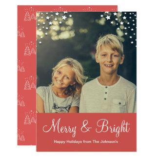 Feliz do cartão com fotos | do feriado & vermelho