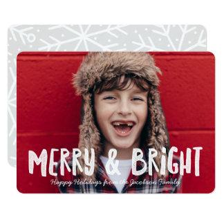 Feliz do vintage & cartão com fotos brilhante do convite 12.7 x 17.78cm