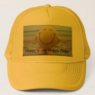 Feliz é… como feliz faz o chapéu do camionista boné