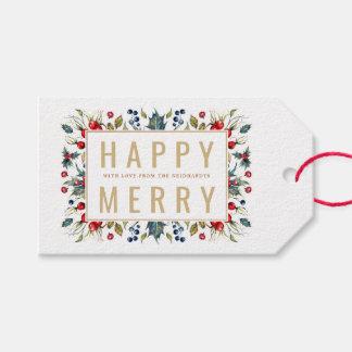 Feliz feliz Tag personalizados do presente de Etiqueta Para Presente