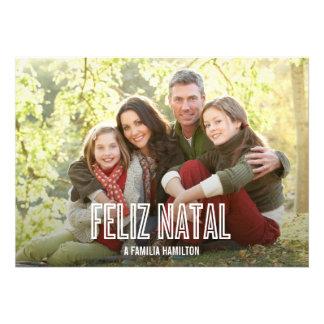 Feliz feriado natal cartões de fotos convite personalizado