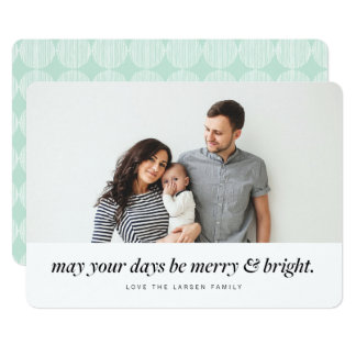 Feliz moderna & cartão brilhante do feriado da