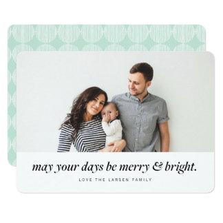 Feliz moderna & cartão brilhante do feriado da convite 12.7 x 17.78cm