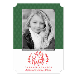 Feliz Moderno natal | Cartão De Natal Convite 12.7 X 17.78cm