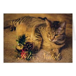 """""""Feliz Nalal e Próspero Ano Novo! """" Cartão Comemorativo"""