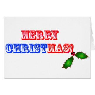 Feliz Natal #1 Cartão Comemorativo