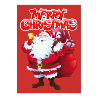 "Merry Christmas 4.5"" x 6.25"" Invitation Flat Card"