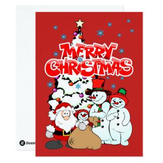 "Merry Christmas 6.5""x8.75"" Invitation/Flat Card"