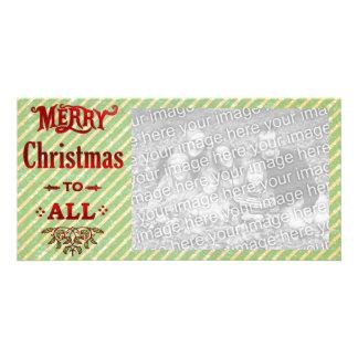 Feliz Natal a tudo Cartão Com Foto