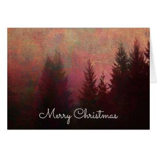 Feliz Natal abstrato da arte da paisagem da Cartão