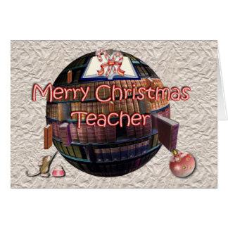Feliz Natal ao professor do estudante Cartão Comemorativo