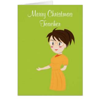 Feliz Natal ao xmas do professor do professor Cartão Comemorativo