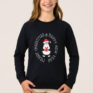 Feliz Natal & camisa do pinguim do feliz ano novo