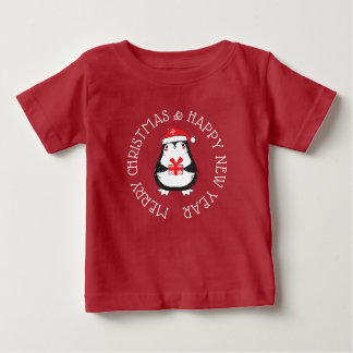 Feliz Natal & camisa do pinguim do feliz ano novo