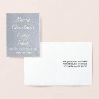 """""""Feliz Natal cartão à minha sobrinha"""""""