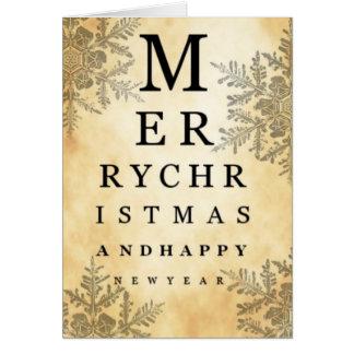Feliz Natal & cartão da carta de olho do feliz ano