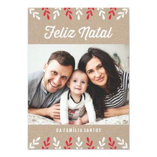 Feliz | natal Cartão de Natal Convite 12.7 X 17.78cm