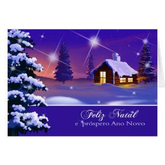 Feliz natal. Cartão de Natal português