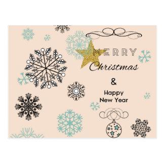Feliz Natal & cartão do feliz ano novo Cartão Postal