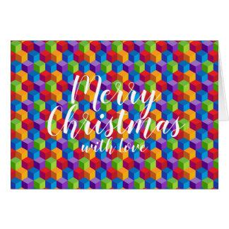 Feliz Natal com o cartão do arco-íris do amor